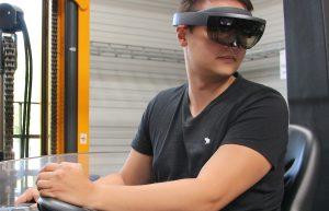 Mit AR-Brille ans Steuer: Bessere Sicht für Staplerfahrer